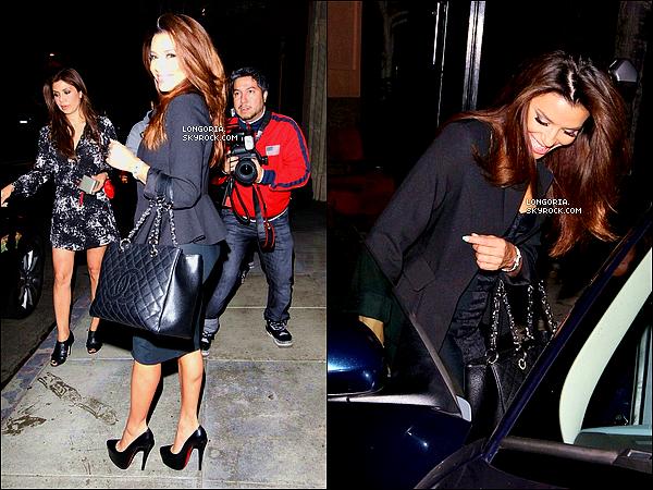 .25/04/13 : Eva Longoria a été aperçue quittant le restaurant italien  « Via Veneto » à Santa Monica avec des amies..