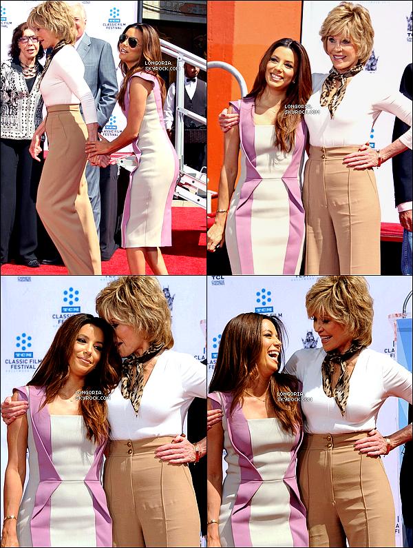 .27/04/13 : Eva, toute ravissante, a assistée à la « Jane Fonda's Hand & Footprint Ceremony » à Los Angeles.Cette grande cérémonie a eu lieu lors du « 2013 TCM Classic Film Festival » au « Grauman's Chinese Theatre » à L.A. .