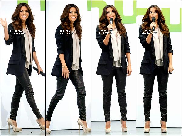 .30/04/13 : Miss Longoria été présente pour assistée au «  Celebs at the Hulu Upfront Event » à New-York..