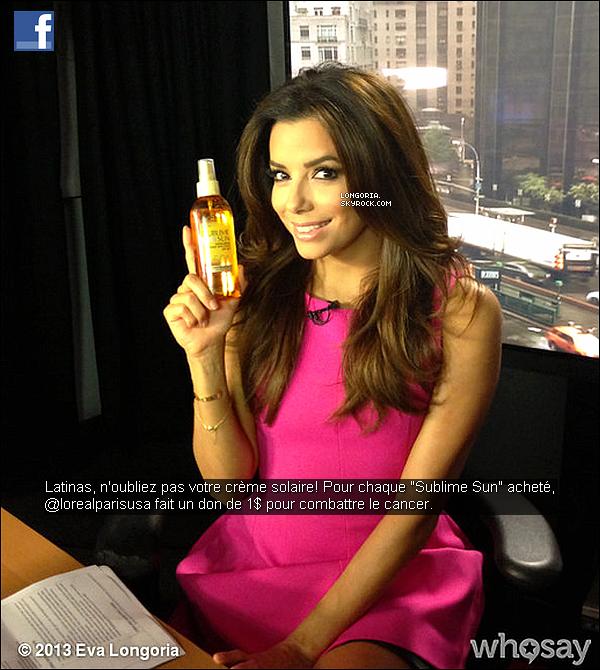 .09/05/13 : Eva a fait une apparition dans l'émission « Noti Mujer » en duplexe sur la chaîne CNN en espagnol..