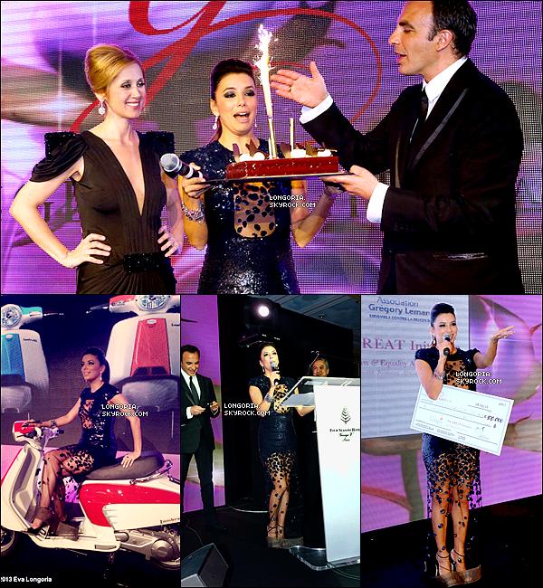 .13/05/13 : Notre Eva Longoria était au « Global Gift Gala » pour son assosiation à l'hôtel « George V » à Paris.Eva a co-présentée la soirée au cotès de Nikos Aliagas devant des personnalités comme Lara Fabian, Marine Lorphelin etc... .