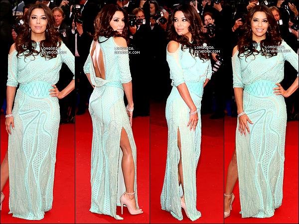 .18/05/13 : Eva Longoria, plus que belle, à la 2ème montée du « Festival de Cannes » pour le film « Jimmy.P »..
