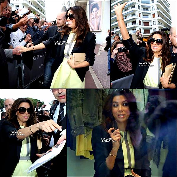 .19/05/13 : C'est une Eva Longoria très classe qui a été photographiée en train de faire du shopping à Cannes..