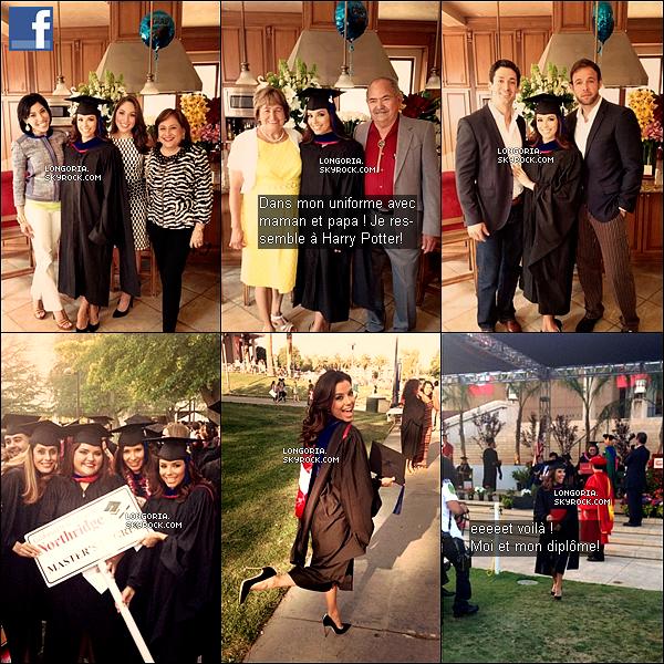 .22/05/13 : Eva à L'université de l'Etat de Californie pour reçevoir son dîplome de « Master en Chicano Studies »..
