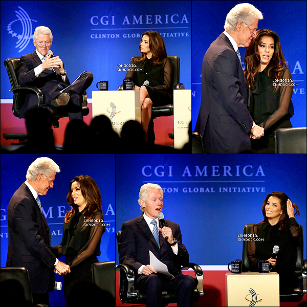 .13/06/13 : Eva Longoria était au « Clinton Global Initiative » afin de soutenir la fondation Clinton à Chicago..