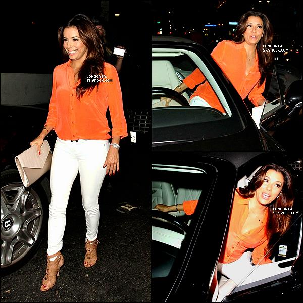 .28/06/13 : Eva s'est rendue dans son restaurant « Beso » avec son amie Edy Ganem (Devious Maids) à Hollywood..