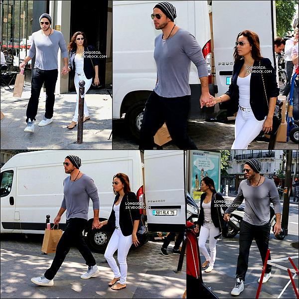 .07/07/13 : Eva dans les rues de Paris où elle s'y est rendue pour un shooting pour « L'Oreal » avec son Chéri..