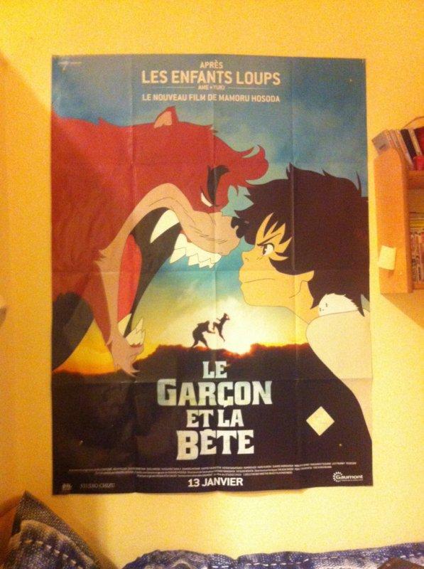 """L'affiche de cinéma du film de Mamoru Hosoda : """"Le garçon et la bête"""""""