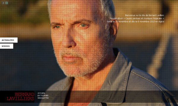 "NOUVEAU SITE OFFICIEL "" BERNARD LAVILLIERS ""http://www.bernardlavilliers.com/site/"