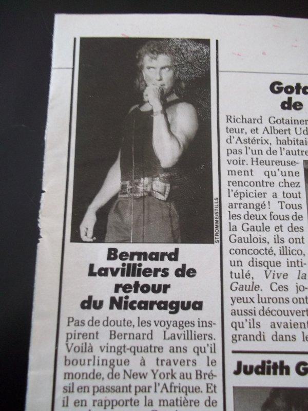 ARTICLE DE PRESSE FEMME ACTUELLE JUILLET 1988