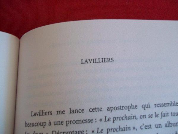 """LIVRE AVEC ARTICLE 3 PAGES SUR """"BERNARD LAVILLIERS"""""""