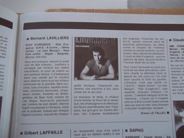 "BEL ARTICLE "" MAGAZINE 1983"""
