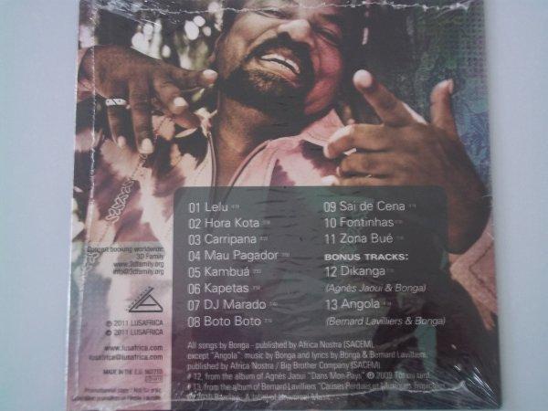 """RARE CD PROMO 13 TITRES  """"BONGA"""" BONUS DUO AVEC BERNARD LAVILLIERS ( sous blister)"""