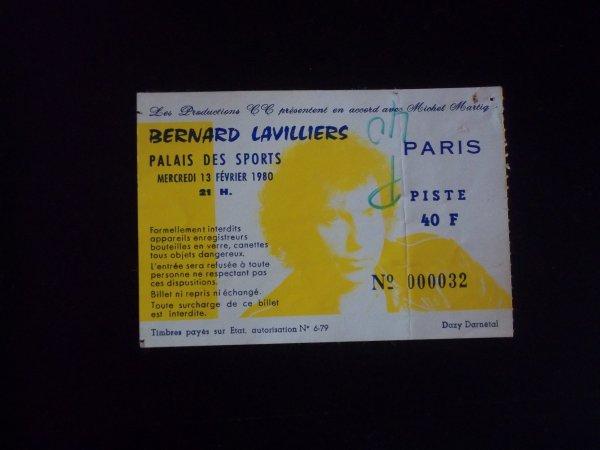 "BILLET ANNEE 1980 "" PALAIS DES SPORTS """