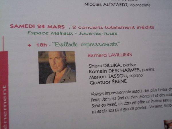 """DOSSIER DE PRESSE """"PRINTEMPS DE COSME JOUE LES TOURS""""(merci didier pour l'info)"""