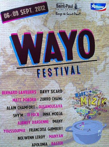 Lavilliers sur l'île de la Reunion du 6 au 9  septembre 2012 a l'occasion du WAYO FESTIVAL
