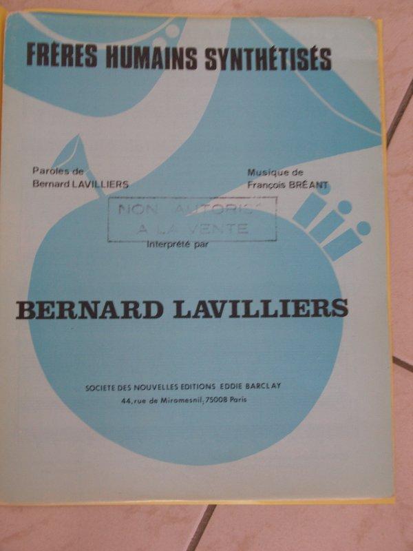 "partition promo  ""édition barclay""  1979"