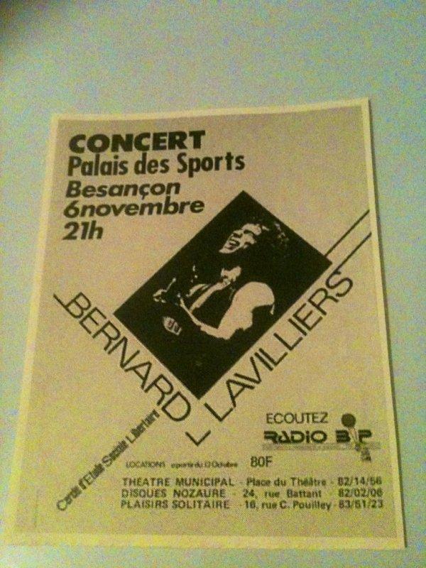 bernard lavilliers superbe affichette 1984