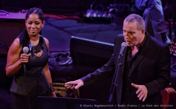 photos de bernard lavilliers en duo avec nancy vieira au pont des artistes a france inter