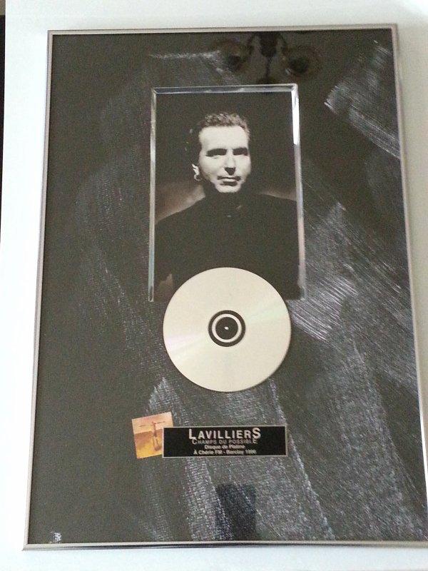 """disque de platine pour """"champs du possible"""" de 1996 pour bernard lavilliers magnifique exemplaire !!!!!"""