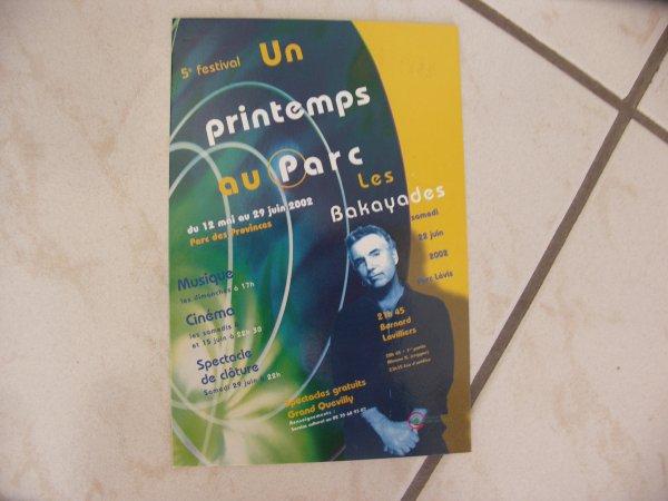 """bernard lavilliers carte postale un printemps au parc """" grand quevilly """" 2002"""