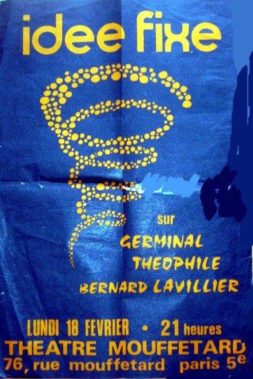 """une trés ancienne affiche de 1968 dont la particularite"""" c'est que le """"s"""" de lavilliers n'y est pas"""