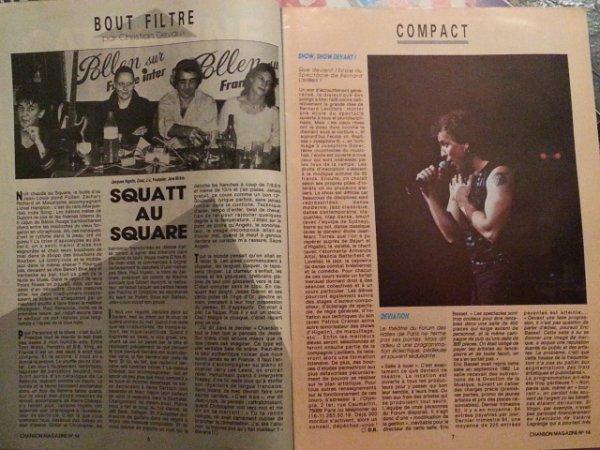 que devient l'école du spectale de bernard lavilliers ? magazine 1985