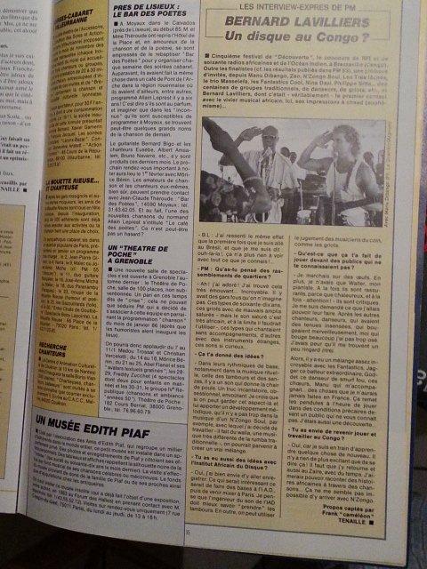 un disque au congo 1986 bernard lavilliers et manu dibango