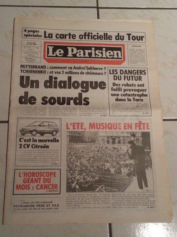 fete de la musique 1984 le parisien ..... un fabuleux concert !!!