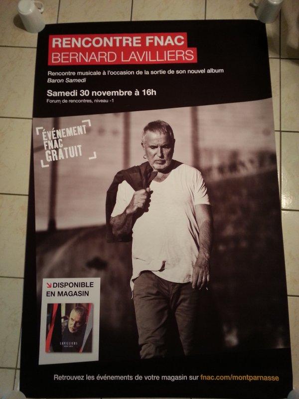 "splendide affiche .fnac montparnasse promo de son nouvel album ""baron samedi"""
