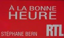 Bernard est  l'invité de RTL  le 11/12/2013 de 11h00 à 12h30 dans l'émission a la bonne heure avec stéphne bern