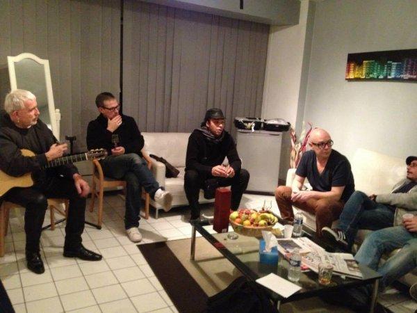 Dernières préparations de la tournée Baron Samedi (répétition evry) photos facebook lavilliers