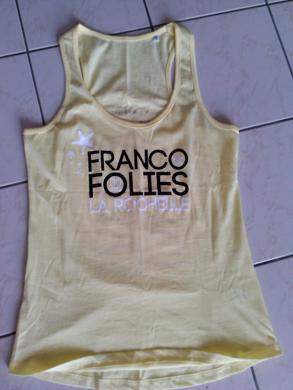 t-shirt des francofolies les 30 ans des francos