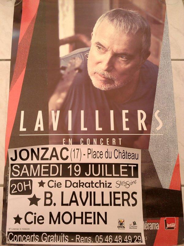 grande  affiche du concert de bernard lavilliers a jonzac