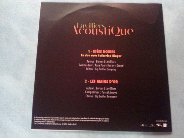 """rare cd promo par bernard lavilliers de l'album """"acoustique""""sortie  le 24 novembre"""
