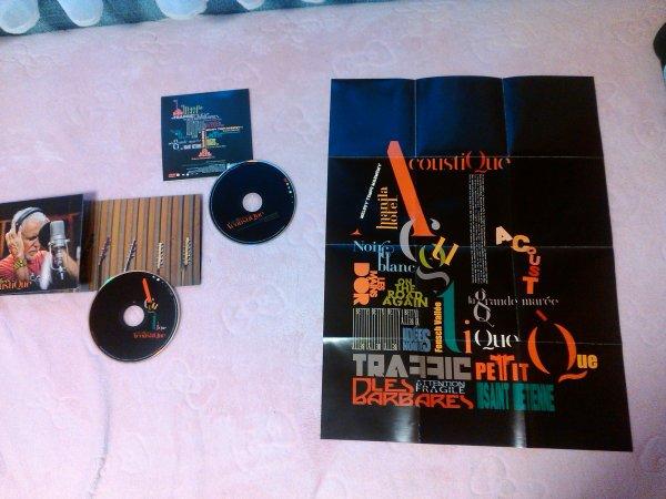 cd + dvd promo acoustique avec son affiche graphique réalisée par sophie lavilliers