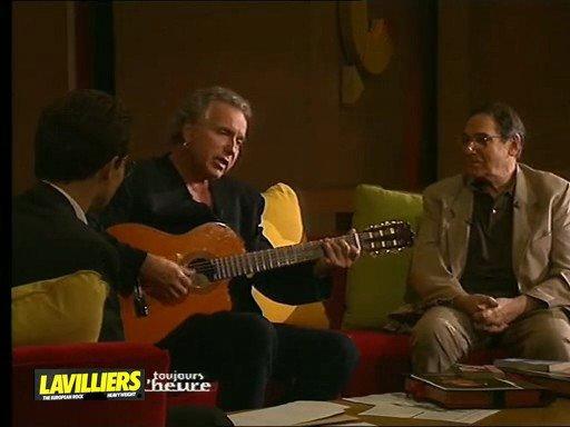 bernard lavilliers interpréte la chanson  - 'Le Clown' de Giani Esposito avec robert hossein comme autre invité