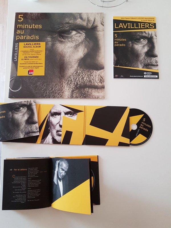 """bernard lavilliers sort son nouvel album """"5 minutes au paradis """" cd.dvd.vinyle +plv"""