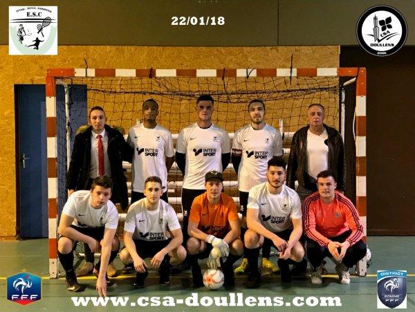 8ème Match de Championnat Division 2 Futsal: Conty - CSA Doullens B  22/01/18