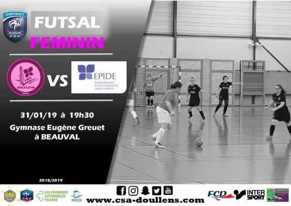 Match amical Futsal Féminin: CSA Doullens - Epide 31/01/19