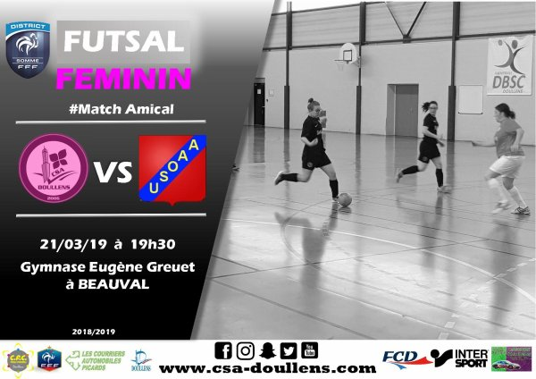 Match amical Futsal Féminin: CSA Doullens - Albert USOA 21/03/19