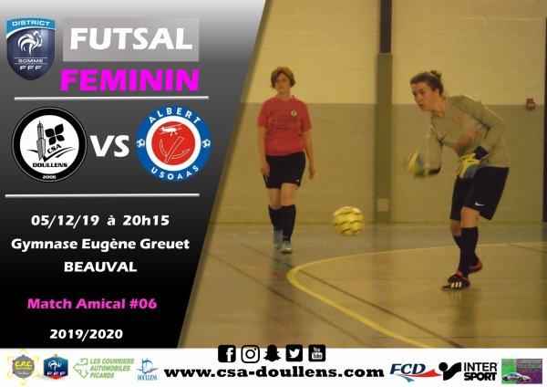 Match Amical Futsal Féminin: CSA Doullens - Albert USOAAS 05/12/19