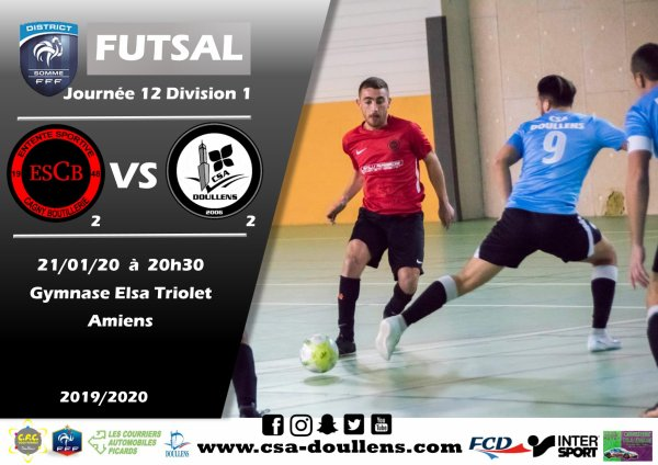 J12 D1: Cagny B - CSA Doullens B 21/01/20