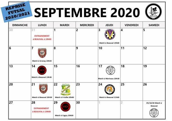 Programme de reprise Futsal Séniors