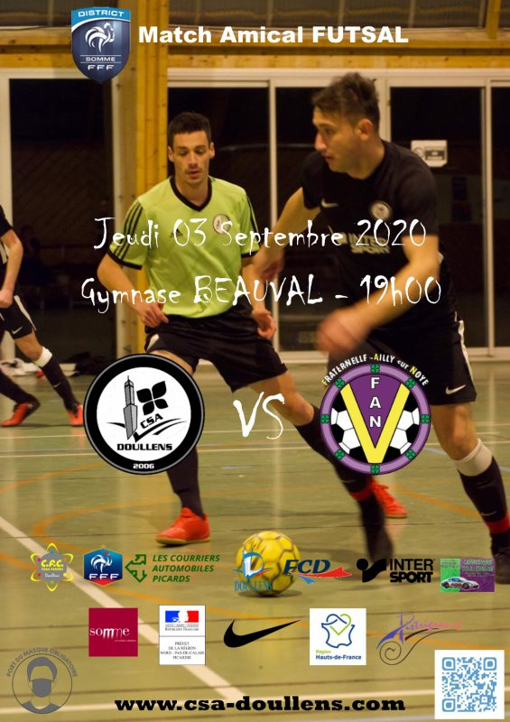 Match Amical CSA Doullens - Ailly sur Noye 03/09/20