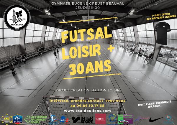 FUTSAL LOISIR + 30 ans