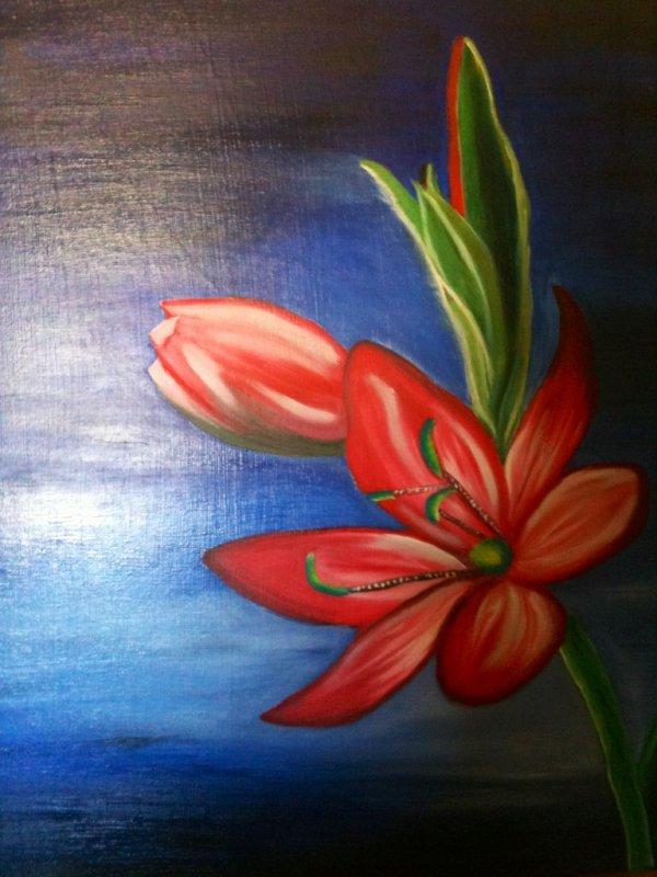 Fleur La Reunion P Peintures Et Dessins