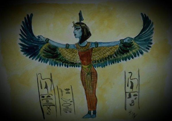 Deesse Màat protege la tombe de Nefertari