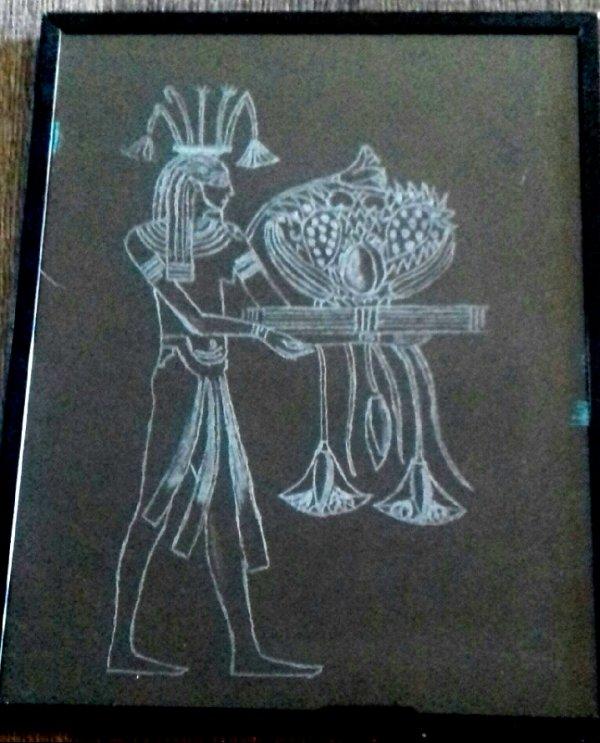 Gravure sur verre  egypte