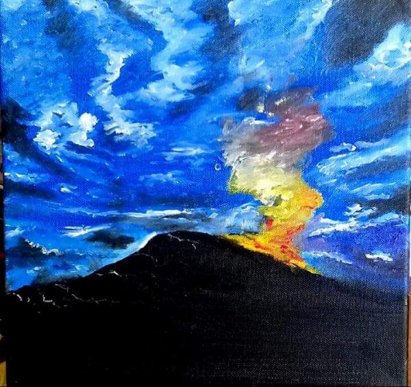 Vus d un volcan cacher